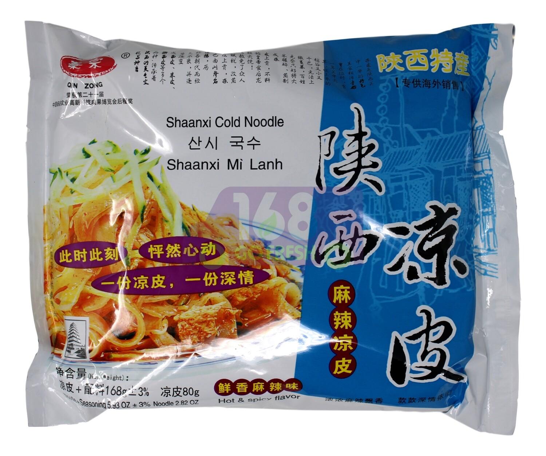 SHAANXI COLD NOODLE SUPER HOT SPICY 陕西 凉皮 鲜香麻辣/ 酸辣味凉皮(168G)