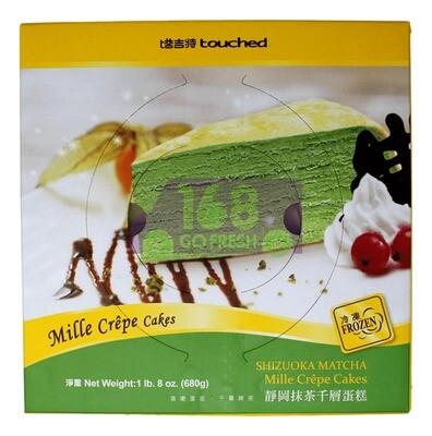 TOUCHED MILLE CREPE CAKES (SHIZUOKA MATCHA) 台湾塔吉特 冷冻 静冈抹茶千层蛋糕(680G)