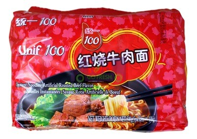 ARTIFICIAL ROASTED BEEF FLAV INSTANT NOODLE 统一 红烧牛肉面(540G)