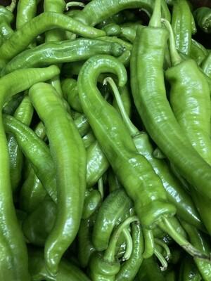 GREEN HOT LONG PEPPER 新鲜绿牛角椒(微辣)(0.4-0.5LB)