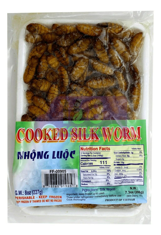 Frozen Silk Worm 冷冻 蚕蛹 (8OZ)