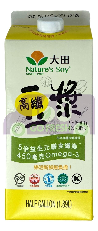 NATURE'S SOY HIGH FIBER SOYMILK 大田 高纤豆浆(1.89L)