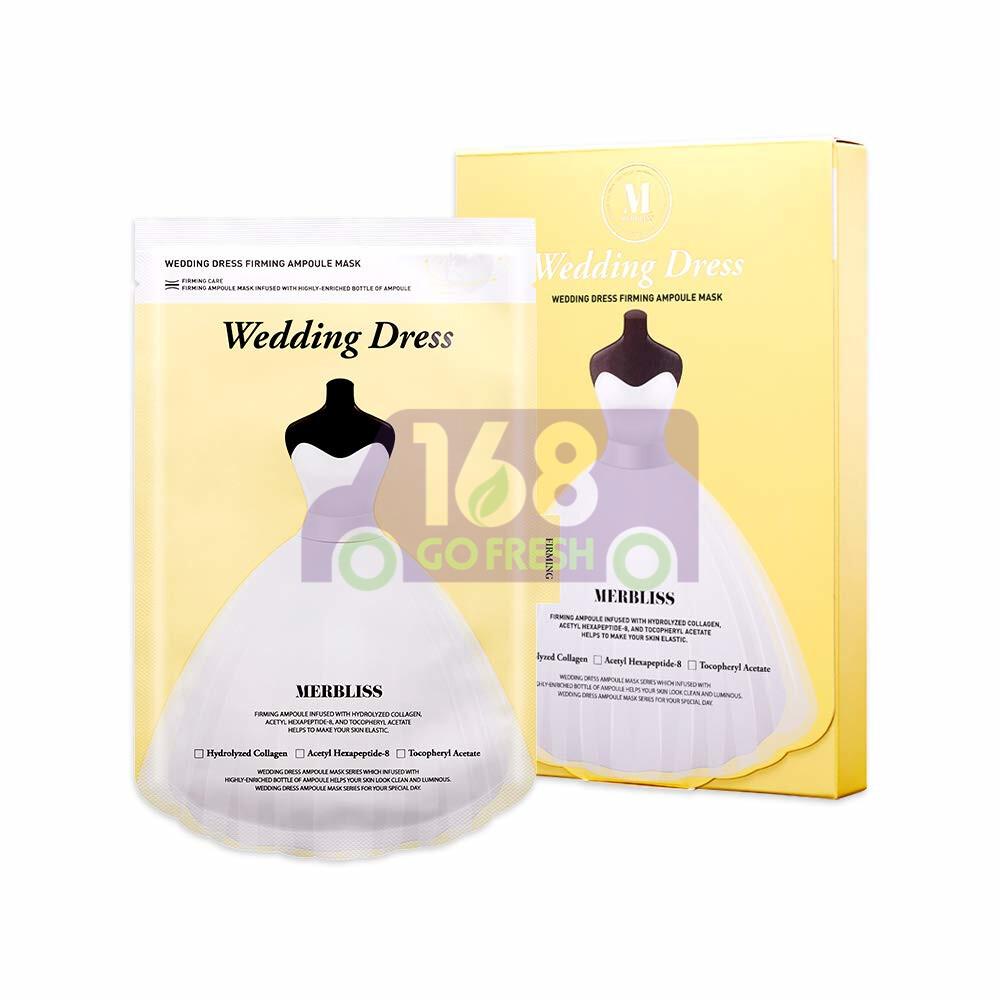 MERBLISS  Wedding Dress Friming Ampoule Mask 5pcs 韩国茉贝丽思水解胶原蛋白紧致弹力面膜5片装