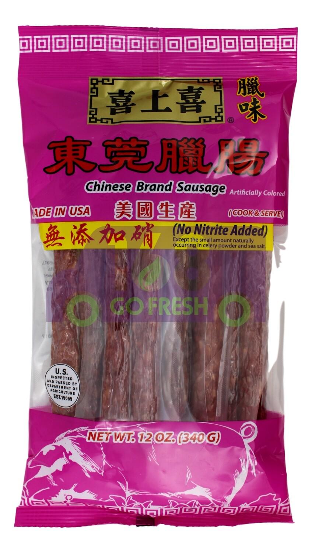 Chinese Brand Sausage 喜上喜腊肠 东莞腊肠(11OZ)