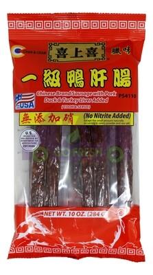 Chinese Brand Sausage 喜上喜腊肠 一级鸭肝肠(10OZ)