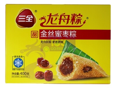 BLACK GLUTINOUS SWEET RICE DUMPLING 三全 龙舟粽 金丝蜜枣粽子(400g)
