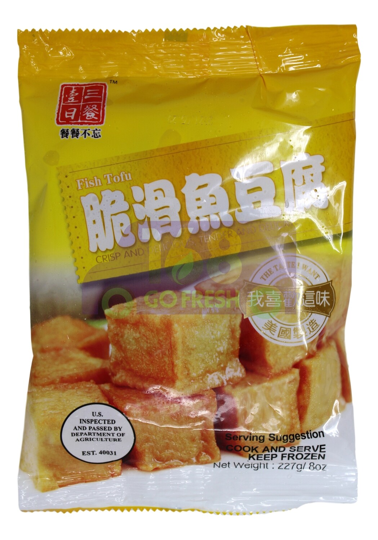 FRIED FISH CAKE 一日三餐 脆滑鱼豆腐 227g