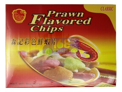 PRAWN FLAVORED CHIPS 森记 彩色鲜虾片(8OZ)