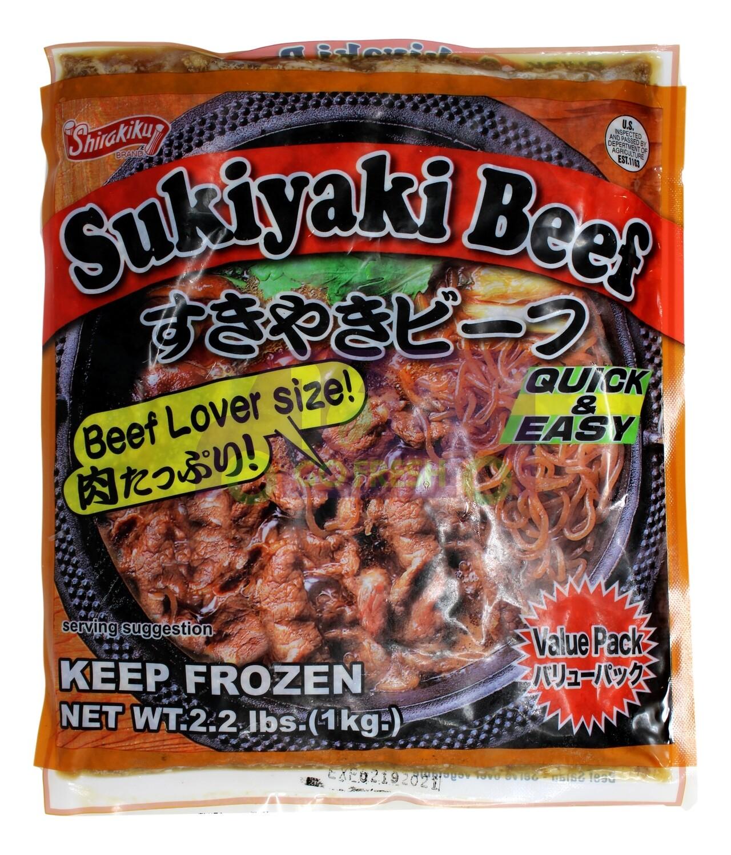 SHIRAKIKU SUKIYAKI BEEF 急冻 日式寿喜烧 洋葱酱牛肉(2.2LB)