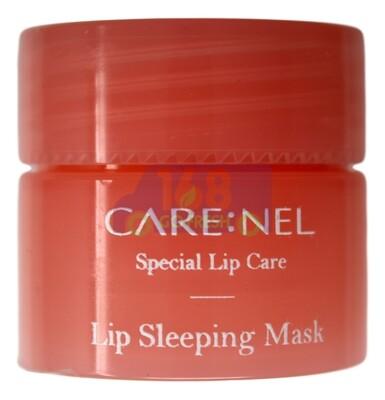 CARE:NEL Lip Sleeping Mask - Strawberry 5g 韩国凯乐尔免洗睡眠保湿修复唇膜/润唇膏(淡化唇纹/口红打低)-草莓味 5g