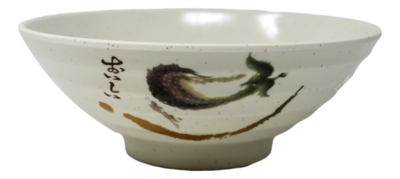 7176 SOUP BOWL(NOT MICROWAVE SAFE) 拉面碗(白) 不能微波炉使用