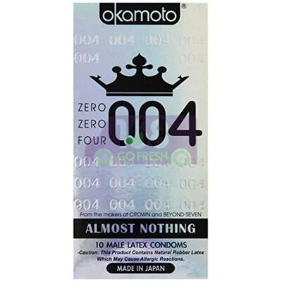 OKAMOTO 0.04 Ultra Thin Aloe Condom 12pcs 日本冈本0.04系列超薄强韧芦荟安全套/避孕套/保险套12pcs