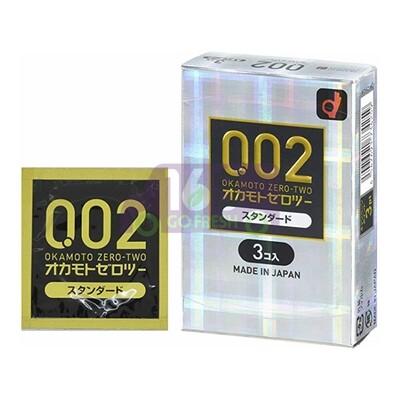 OKAMOTO 0.02 Ultra Thin  Regular Size  Condom 3pcs 日本冈本0.02超薄强韧标准型安全套/避孕套/保险套3pcs