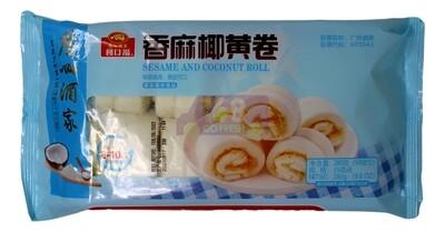 LIKOFU - SESAME AND COCONUT JUICE ROLL 广州酒家 利口福 香麻椰黄卷(9.8OZ)