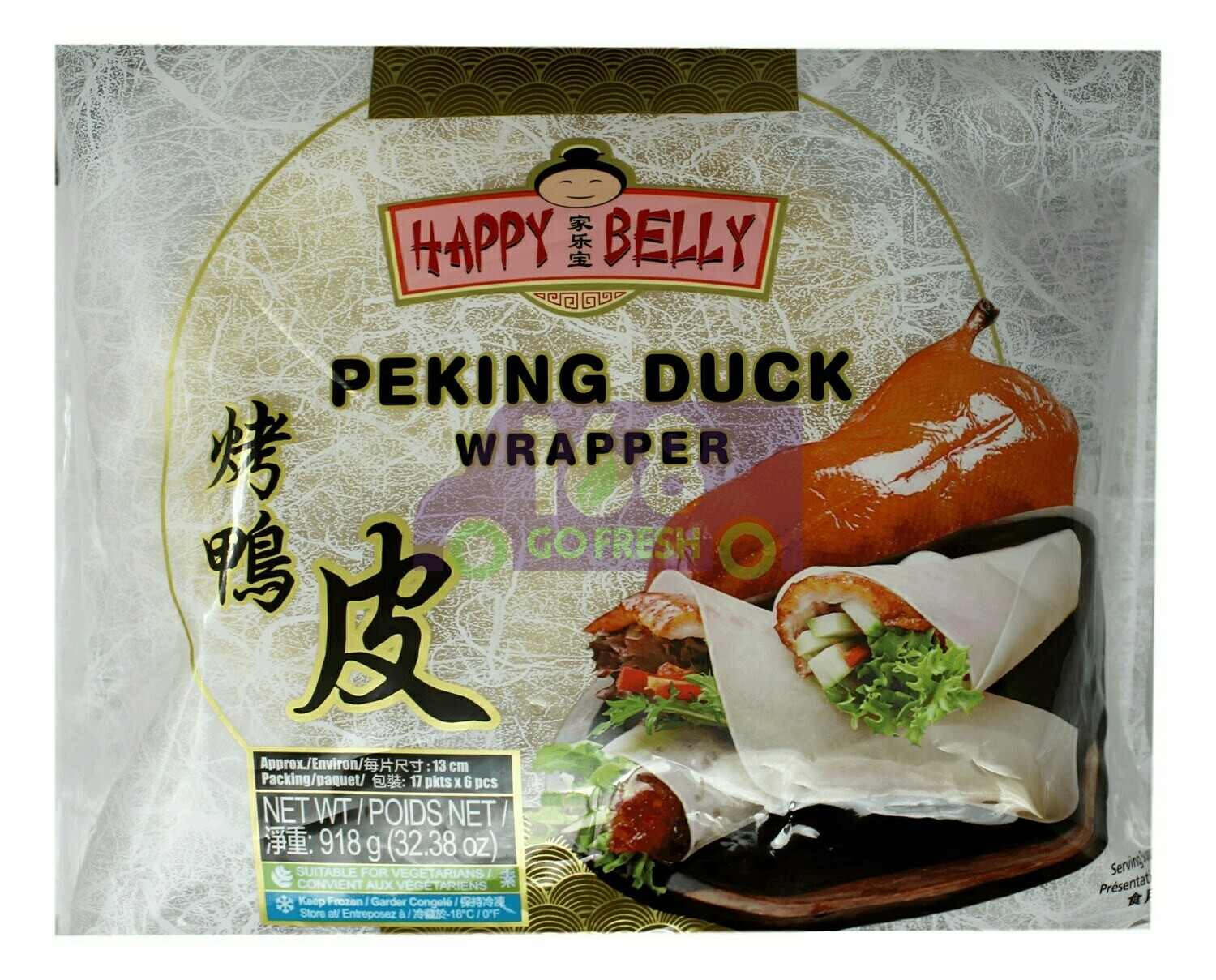 HAPPY BELLY PEKING DUCK WRAPPER 家乐宝 烤鸭皮(918G)