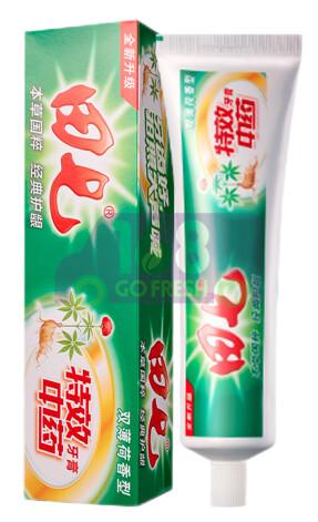 TIANQI Toothpaste - Mint 田七特效中药牙膏(无氟口气清新亮白去黄牙垢清火牙龈护理固齿防蛀)100g