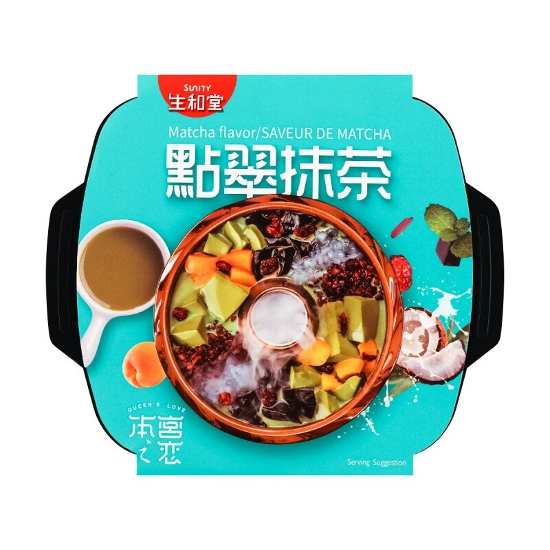 SUNITY MATCHA FLAVOR DESSERT HOT POT 生和堂 点翠抹茶 甜品火锅 565g+14ml