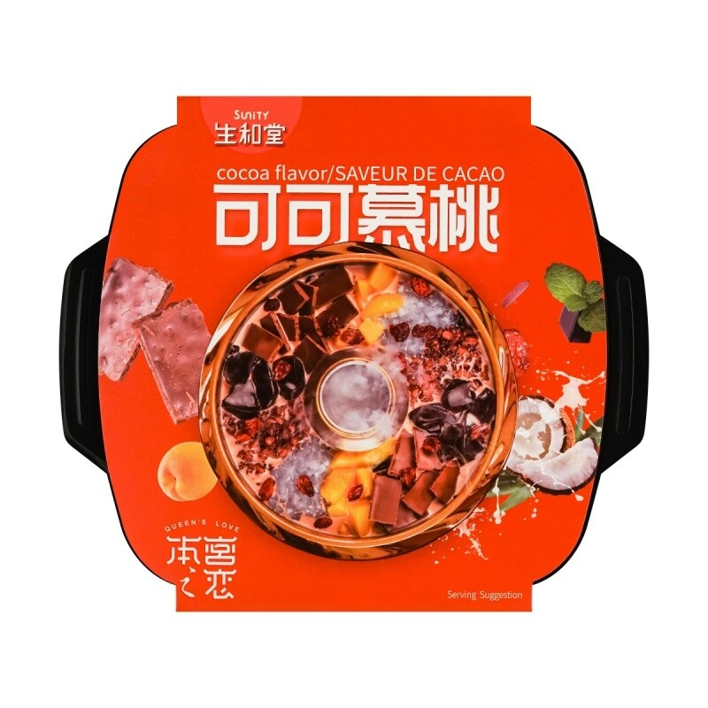 SUNITY COCOA FLAVOR DESSERT HOT POT 生和堂 可可慕桃 甜品火锅 565g+14ml