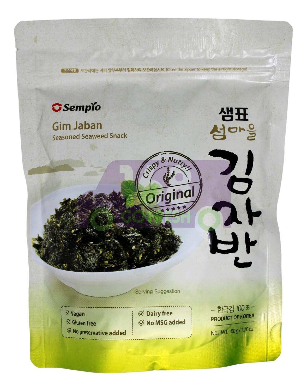 CRISPY SEAWEED SNACK  韩国Sempio 调味紫菜碎 (原味)-白绿袋子