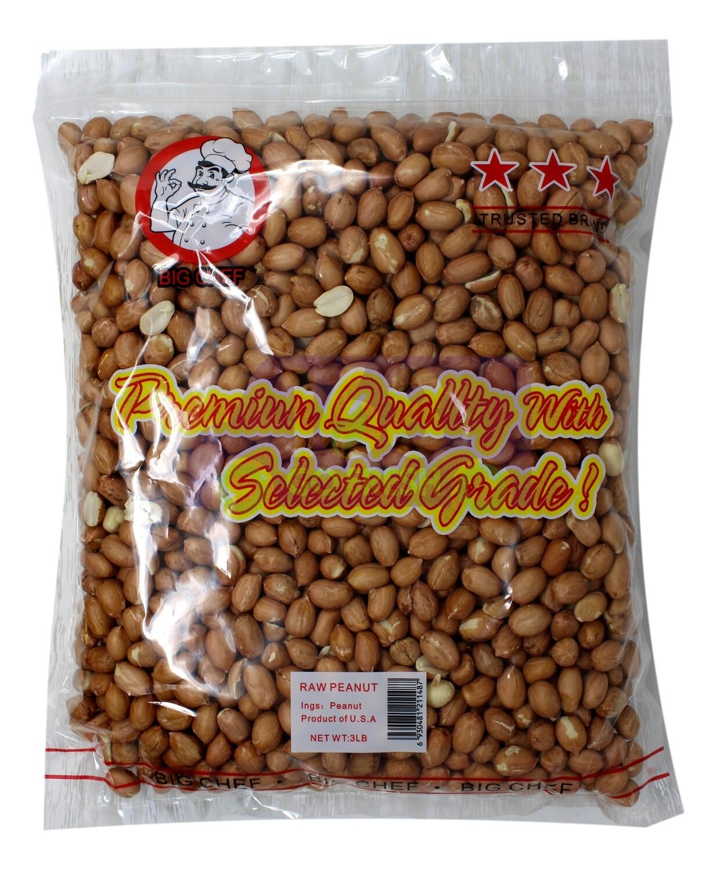 Big Chee Peanut with Skin 大厨牌 带皮花生(3LB)