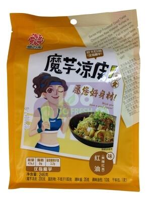 KONJAC COLD NOODLES- CHILI OIL 盛之禾 魔芋凉皮 红油味(246G)