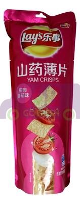 LAY'S YAM CRISPS TOMATO 乐事 山药薄片 田园番茄味(80G)
