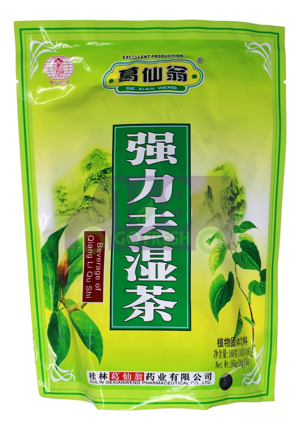 GE XIAN WENG CHINESE TEA 葛仙翁 强力去湿茶(10G*16)