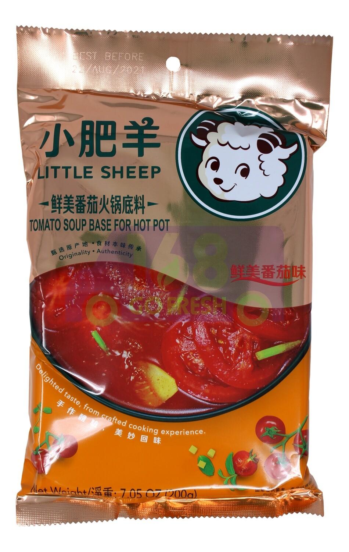 Little Sheep Hot Pot Base TOMATO SOUP 小肥羊 鲜美番茄火锅底料(7.05OZ)