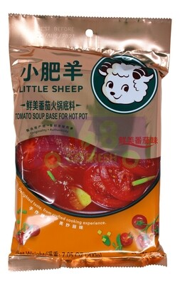 Little Sheep Hot Pot Base TOMATO SOUP 小肥羊 鲜美番茄火锅底料(7.05OZ)