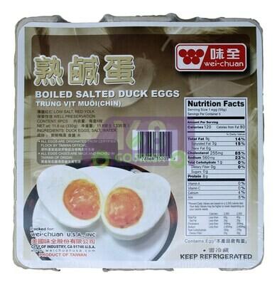 Wei-Chuan Salted Duck Eggs 味全 熟咸蛋(11.6OZ)