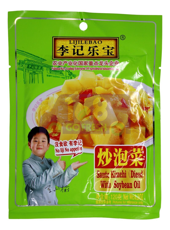 LIJILEBAO DICED SAUTE KIMCHI W/ SOYBEAN OIL 李记乐宝 炒泡菜 (120G)