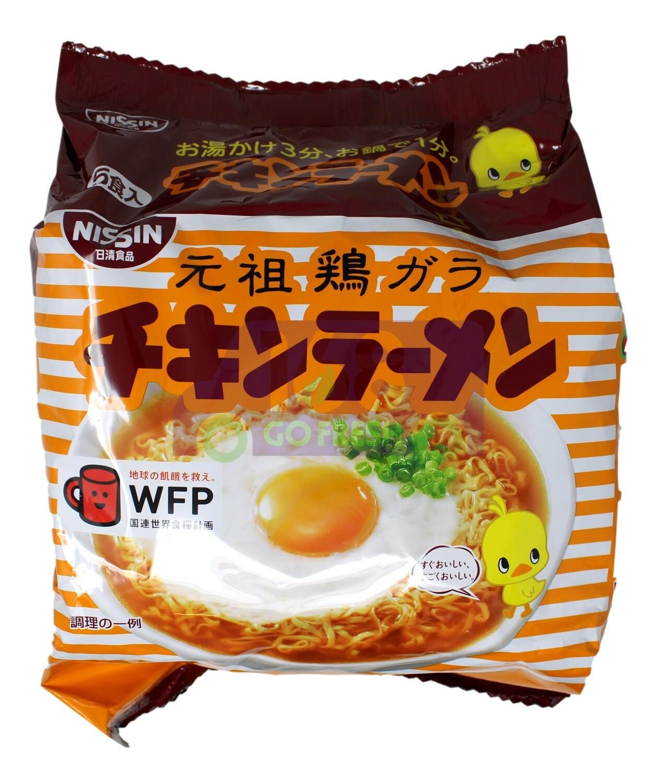 JAPANESE NISSIN CHICKEN RAMEN NOODLES 日本产 日清 元祖鸡汤即食拉面 (5包装)