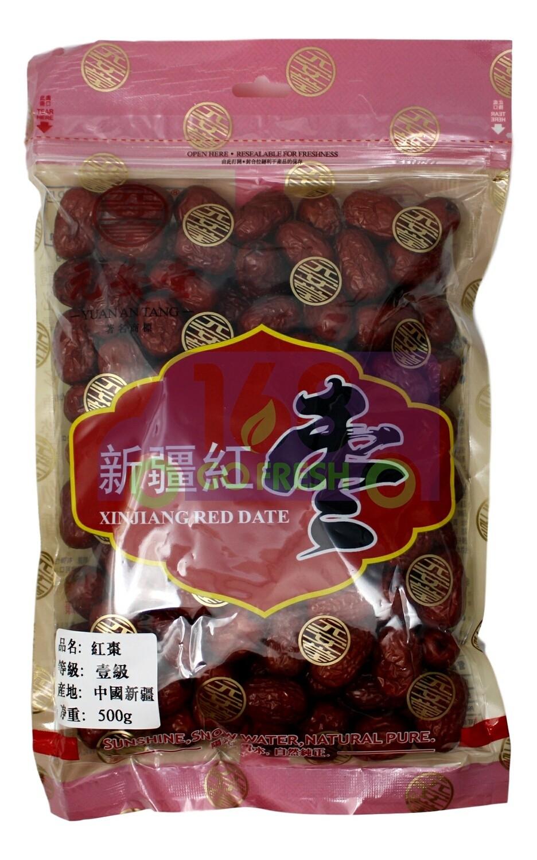 YUANANTANG Xinjiang Red Date 500g 元安堂新疆红枣500g