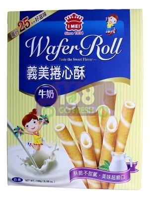 I-MEI Wafer Roll - Milk 198g 义美卷心酥-牛奶198g