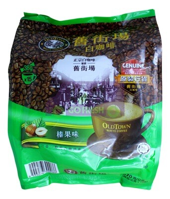 OLDTOWN HAZELNUT WHITE COFFEE 旧街场 白咖啡  榛果味 (38g*15)
