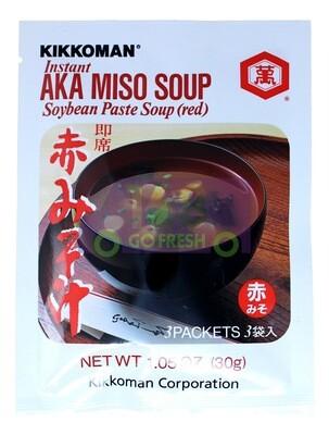 KIKKOMAN AKA MISO SOUP (RED) 万字牌 即食红味增汤包(30G)
