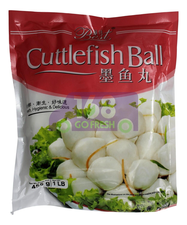 BEST CUTTLE FISH BALL 极佳 墨鱼丸(455G)