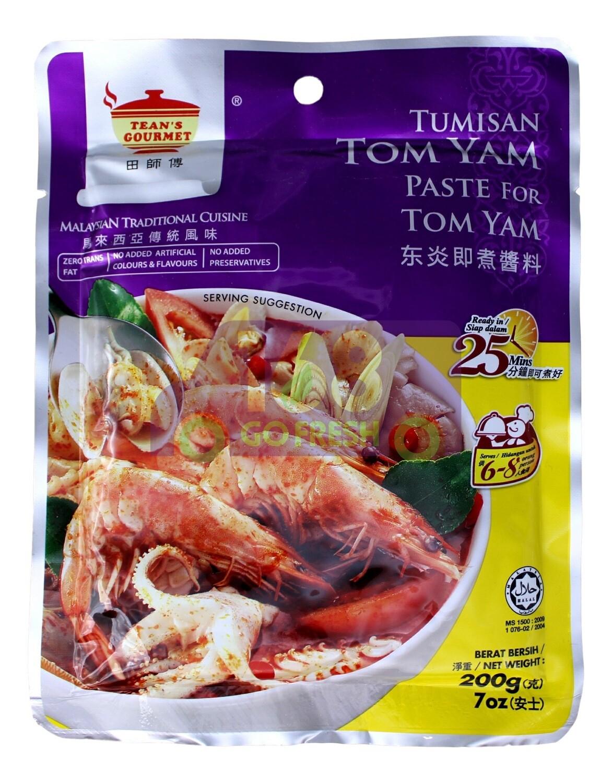 TEAN'S GOURM -TOM YAM SAUCE  田师傅 马来西亚风味 东炎即煮酱料(200G)