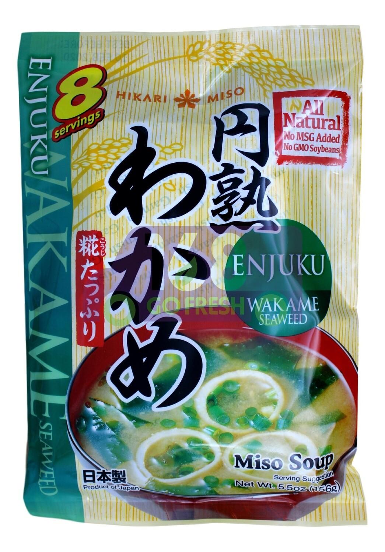 ENJUKI HAKARIMISO SOUP WAKAME SEAWEED 日本 即食味增紫菜汤包(5.5OZ)