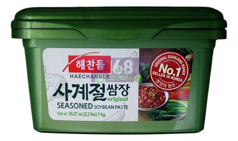 CJ SSAMJANG SEASONED SOYBEAN PASTE 韩国CJ 调味豆酱 绿 (1KG)