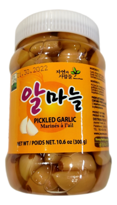 JAYONE PEELED GARLIC 韩国JAYONE 腌制蒜头(10.6OZ)