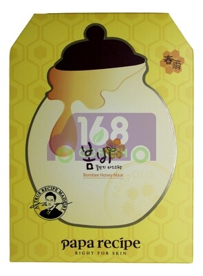 【ON SALE 热卖促销】PAPA RECIPE BOMBEE HONEY MASK韩国PAPA RECIPE春雨蜜罐蜂胶保湿面膜10片(原价$26.49)-黄色盒