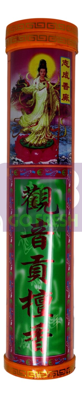 """6.8"""" JOSS STICKS (400 PCS) 志成 6.8寸观音贡檀香(红)"""