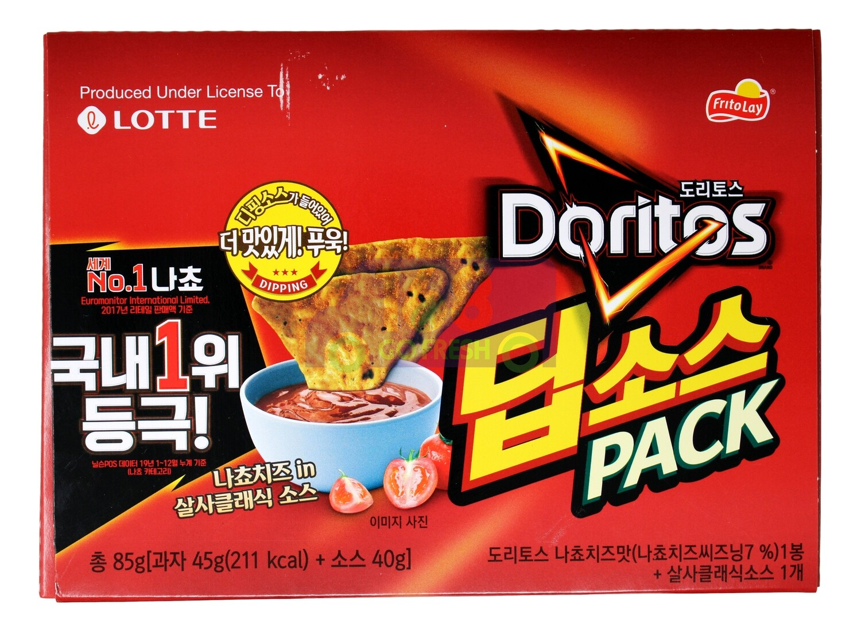 LOTTE DORITOS CHIP SALSA FLA. 韩国产 乐天 玉米片 辣椒番茄味