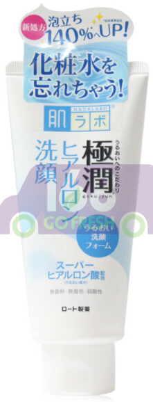 Rohto Hadalabo Gokujyun Hyaluronic Face Wash Cleanser 日本肌研极润玻尿酸保湿洗面乳/洗面奶/洁面乳100g
