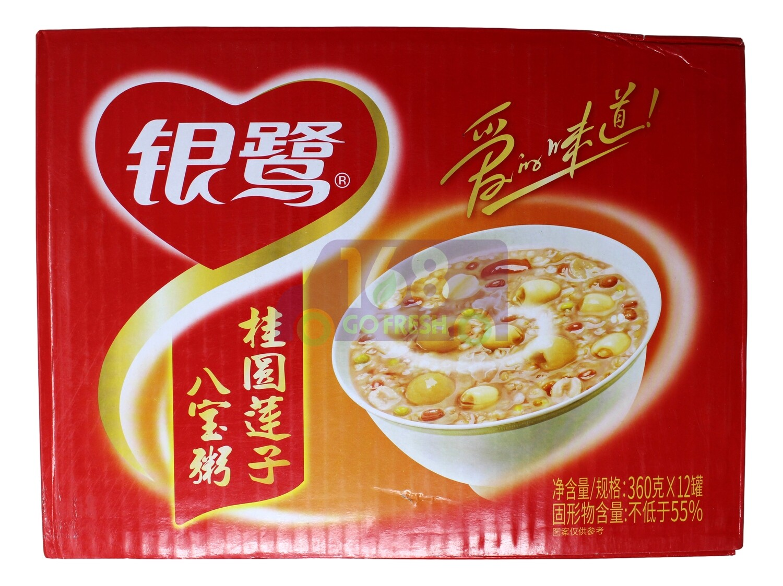 MIXED CONGEE 银鹭 桂圆莲子八宝粥(12罐装)