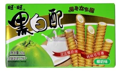 WANGWANG COCONUT CRACKER 旺旺 黑白配椰奶味(60G)