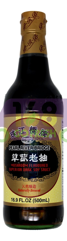 PEARL RIVER BRIDGE MUSHROOM SOY SAUCE 珠江桥牌 草菇老抽(16.9OZ)