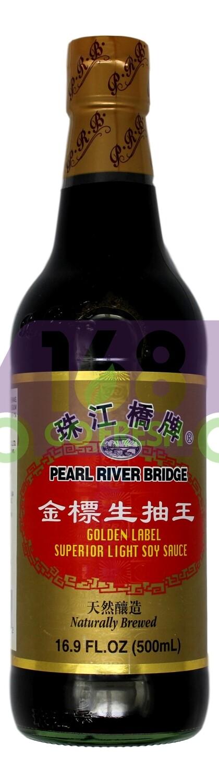 SUPERIOR LIGHT SOY SAUCE 珠江桥牌 金标生抽王(500ML)