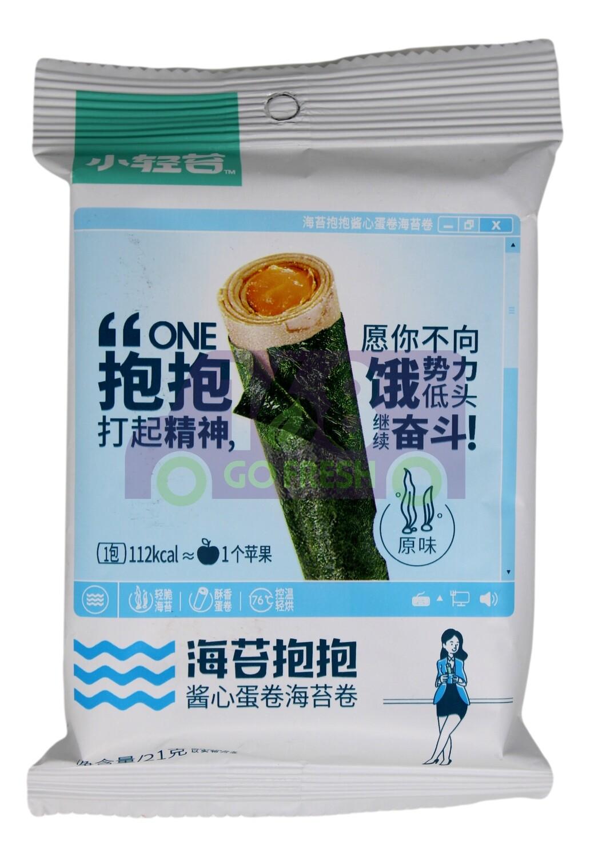 SEAWEED SANDWICH EGG ROLL-ORIGINAL FLV 小青苔 酱心蛋卷海苔卷 原味(21G)